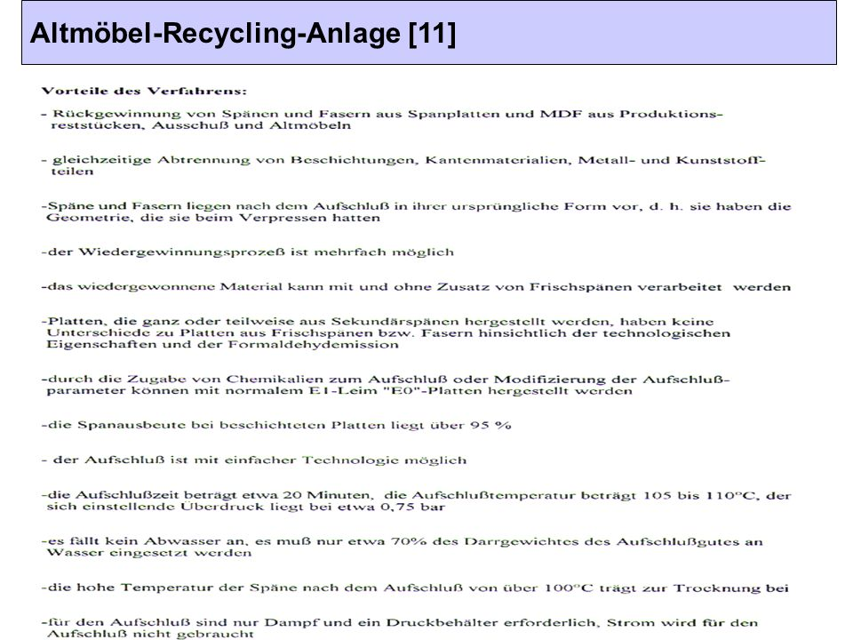 Altmöbel-Recycling-Anlage [11]